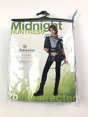 Girls Huntress Costume (Halloween Costume Girls Size Medium medieval midnight huntress archer w/)