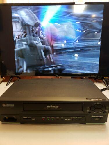 Emerson VCR DA-4-Head VHS HQ Video Cassette Player/ Recorder EWV401B