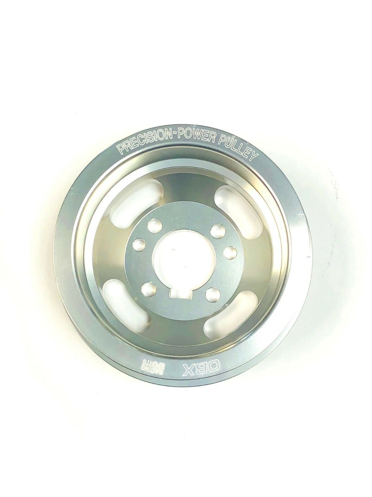 OBX Underdrive Crank Pulley For 1991 To 1992 Ford Escort GT LE-X 1.8L Silver