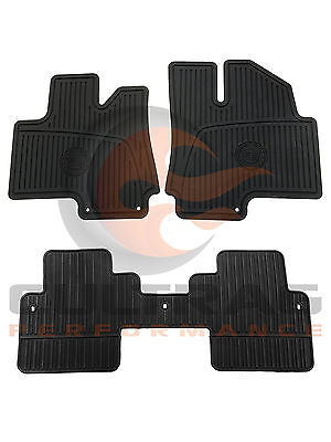 2010-2016 Cadillac SRX Genuine GM Front & Rear All Weather Floor Mats (2016 Cadillac Srx All Weather Floor Mats)