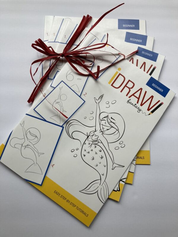 iDraw Books for Beginners, Complete Set (4), Easy Step By Step Tutorials