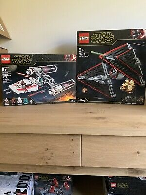 Lego Star Wars Resistance Y-wing 75249 And Sith Tie Fighter 75272 Bnisb