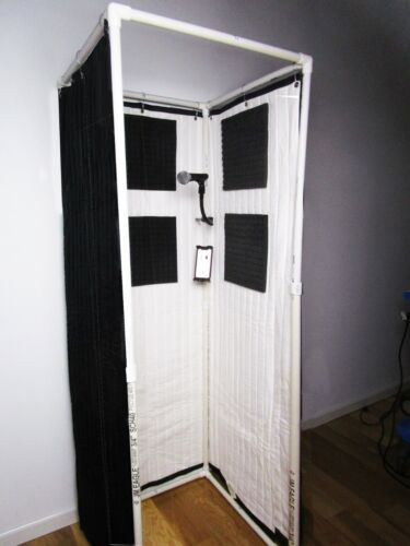 Portable Stand-In Vocal Booth for Travel