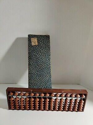 Vintage 21 Rods Japanese Soroban Wood Abacus
