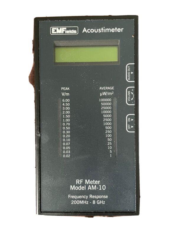 EMFields Acoustimeter RF Meter model AM-10 EMF, RF & Microwave Detector/Meter