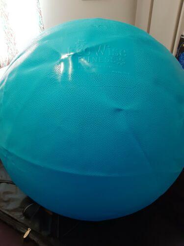 EcoWise PVC Free Fitness Ball Balanced body, Spa Blue, 75cm