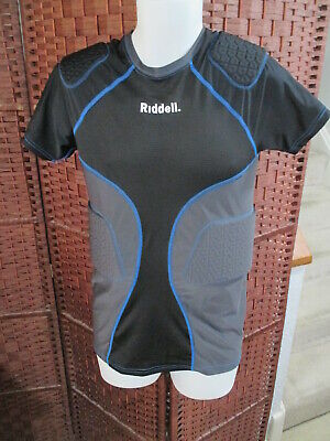 Riddell 5 Pad Compression Football Shirt Size Adult Large