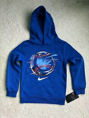 Nike sweat shirt hoodie kids boys game royal blue size 6 NEW
