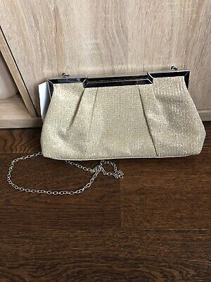JESSICA MCCLINTOCK GOLD SPARKLEY CLUTCH BAG NEW WITH TAGS RRP £19.99!