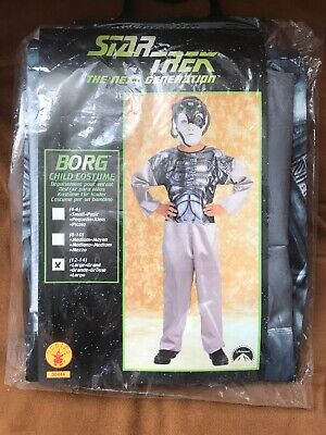 Vintage Star Trek Borg Costume Kids Large 12-14 - Borg Halloween Kostüme