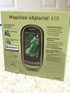 Brand new Magellan eXplorist 610 Canada waterproof Hiking GPS
