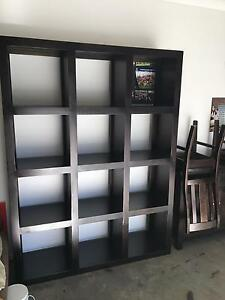Chocolate stained cube bookcase Camden Camden Area Preview
