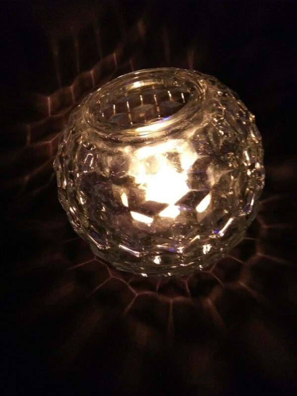 Cubic candle holder fairy light clear