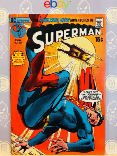 Superman #234 (7.5) VF- 1971 Bronze Age Key Issue