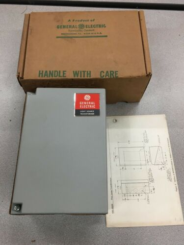 NEW IN BOX GENERAL ELECTRIC 45AMP TRANSFORMER LIGHT SOURCE 3S7505TL502A6