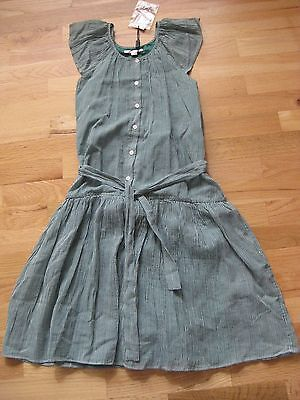 NWT BURBERRY GREEN GINGHAM DRESS 14Y $250