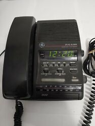GE LCD DUAL ALARM CLOCK AM/FM RADIO & TELEPHONE /PHONE 2-9720A USED GOOD