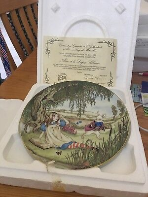 Vintage 1981 Georges Boyer  Plate Nightingale ALICE and the White Rabbit