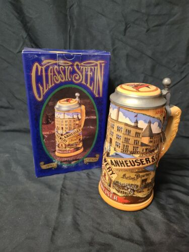 1990 Edition Anheuser Busch Classic Lidded Beer Stein