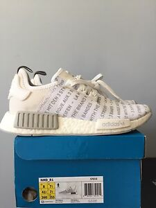 """Adidas nmd """"white out"""" - sz 8 mens"""