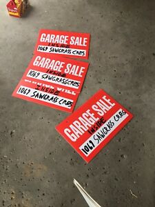 Inside garage sale