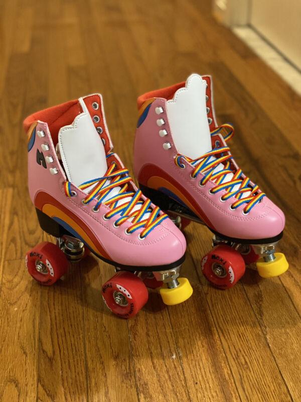Moxie Rainbow Roller Skates