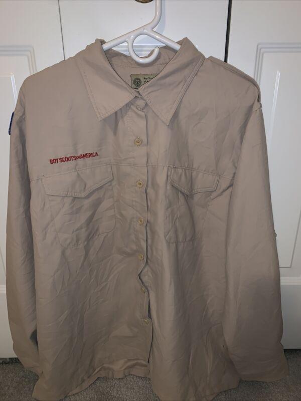Vented Microfiber Poly Boy Scout BSA UNIFORM SHIRT Ladies 2XL LS New Style K31