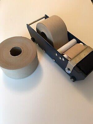 Uline Industrial Tape Dispenser Withreinforced 3x375 Kraft Paper Tape 7 Rolls