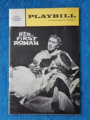 Her First Roman - Lunt-Fontanne Playbill - Opening Night - October 20th, 1968