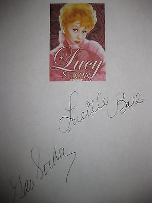 The Lucy Show Signed TV Script Screenplay Lucille Ball Gale Gordon Autograph rpt