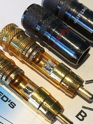 RCA Plugs Professional Top Quality w AudioQuest Silver Solder For Best Contact