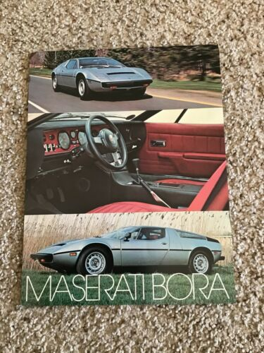 1970s  Maserati Bora,  original color sales literature.