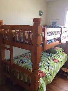 Solid Pine Twin over Twin Bunkbeds