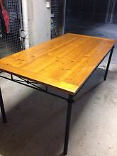 Timber/wrought iron table Dulwich Hill Marrickville Area Preview