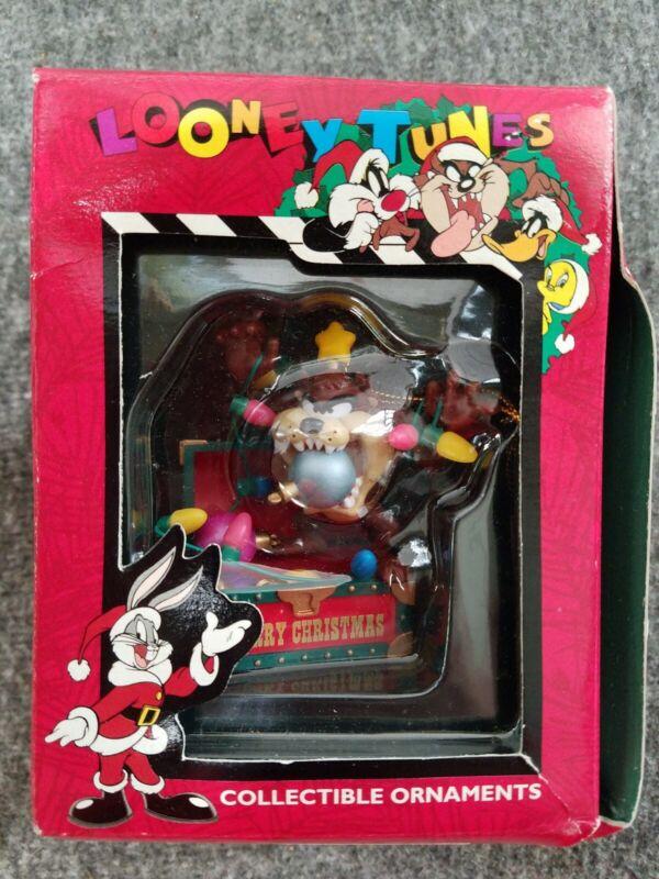 1996 Looney Tunes Christmas Ornament Tasmanian Devil In Box