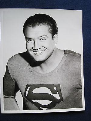 ORIGINAL PHOTO of Actor GEORGE REEVES as SUPERMAN c. 1950's