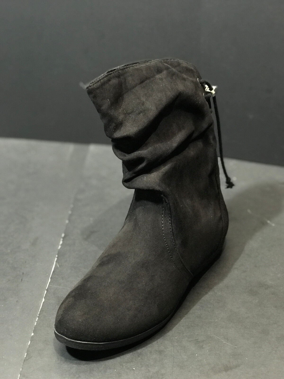 New Rampage Women's Blinkie Black Mid Calf Pull On Boots Sho