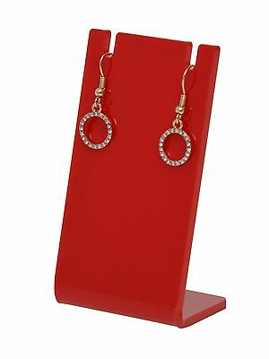 Earring Necklace Display Jewelry Red Acrylic Counter Stand Holder Earing