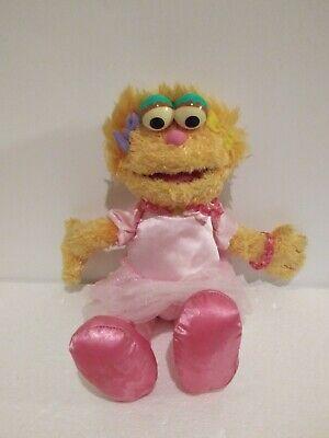 "GUND Sesame Street Zoe Soft Plush Pink 12"" Doll"
