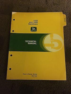 John Deere 1550 And 1650 Backhoes Operators Manual