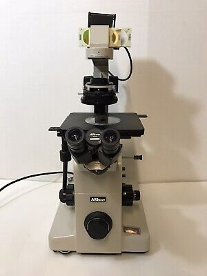 Nikon Diaphot Microscope Dic Contrast 0.52 Lwd Condenser 4 1020 And 40x Dic
