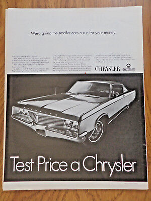 1968 Chrysler Newport 2 Dr HT Ad  Giving the Smaller Cars a Run for your Money