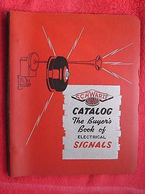 1942 Schwarze Faraday Signals Horns Bells Sirens Ringers Brochure Catalog