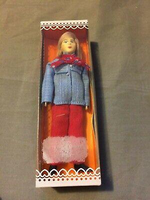 Puppenstube 6144 Verkäuferin Ovp ~13,5cm Bodo Hennig Vintage Biegepuppe Puppe f