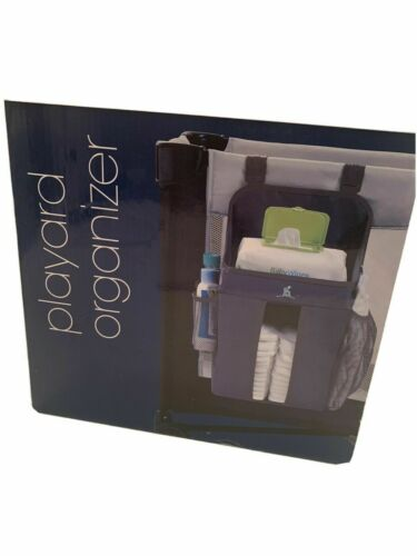 Hiccapop Playard Organizer - Shelf for Wipes, Diaper Storage, 3 Mesh Pockets