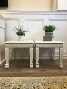 Antique White Side / End Tables