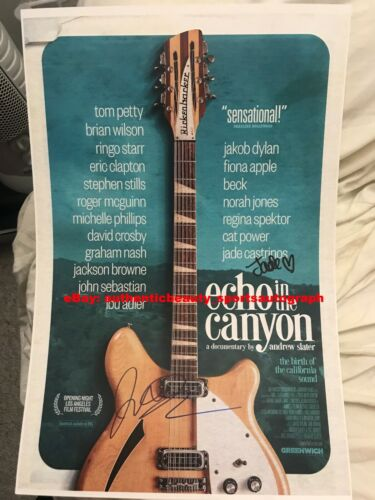 ECHO IN THE CANYON JAKOB DYLAN JADE CASTRINOS MUSIC SIGNED MOVIE 12x18 REPRINT