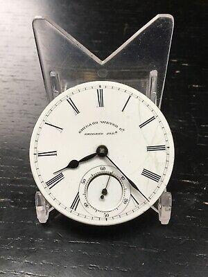 Chicago Watch Co Keywind Keyset KWKS Pocket Watch Movement
