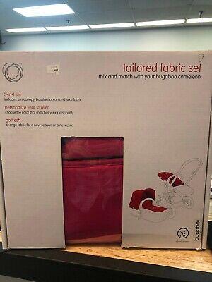 NIB Bugaboo Cameleon PINK Canvas Tailored Fabric Set Canopy & Apron 70111PI01