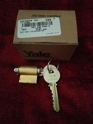 Yale 1801 6 Pin Key-in-knob Cylinder Lock With 2 Code Cut Keys Nib Satin Chrome